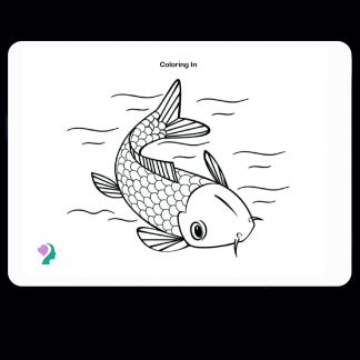 double-sided dry erase coloring board - fish