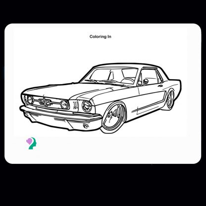 double dry-erase coloring board - front -transportation car