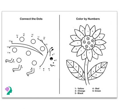 back of coloring board - games