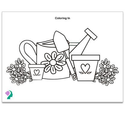 garden coloring board