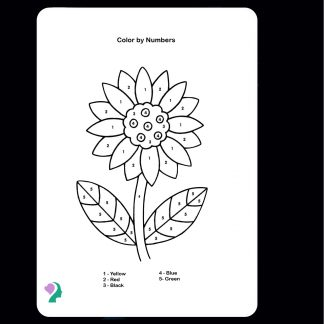 color in flower activity board