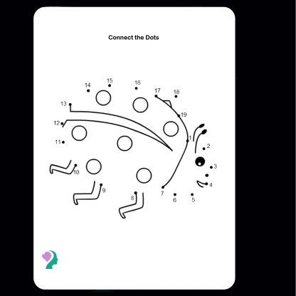 connect-the-dots lady bug drawing activity